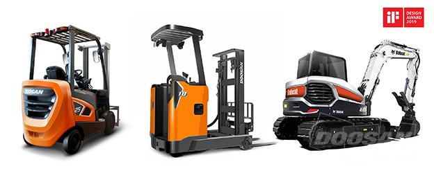 Doosan Forklift Trucks, Excavator Honored with Germany's iF Design Awards