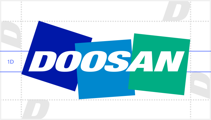 doosan logo clear space